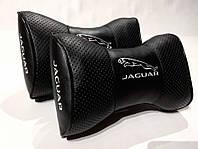 Подушка на подголовник JAGUAR черная