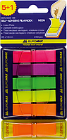 Закладки пластиковые с клейким слоем НЕОН (BM.2303-98)