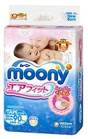 Подгузники Moony NB 0-5 кг 90 шт