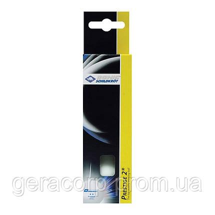 Мячи Donic Prestige 2* 40+ 3шт white, фото 2