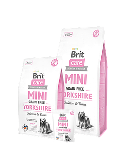 Brit Care GF Mini Yorkshireкорм для взрослых собак породы йоркширский терьер 2кг Brit Care GF Mini Yorkshire 7kg  (д/соб мал пор )