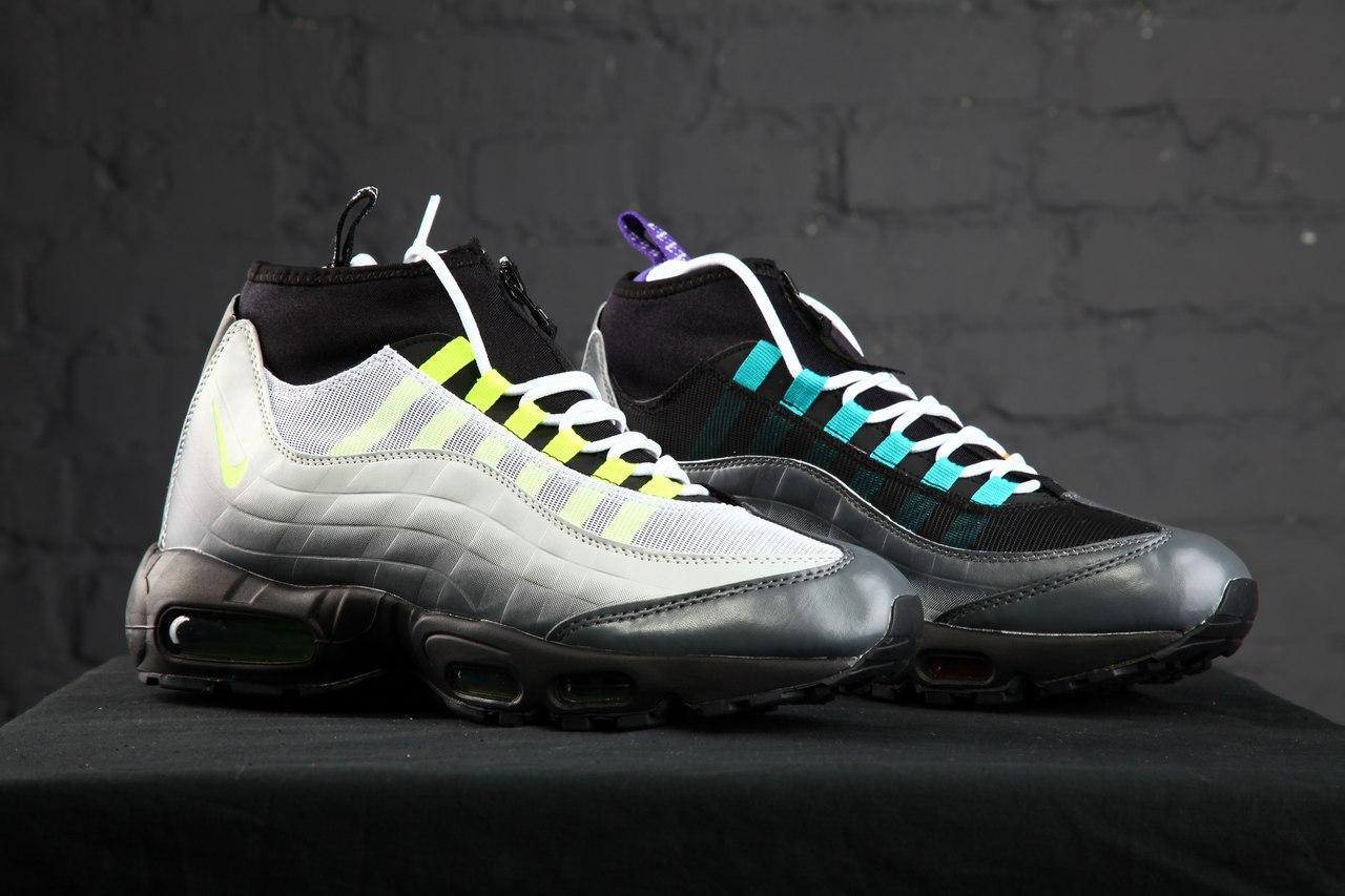 Мужские Зимние Кроссовки Nike Air Max Sneakerboot 95 Greedy — в ... 64ce95d044d