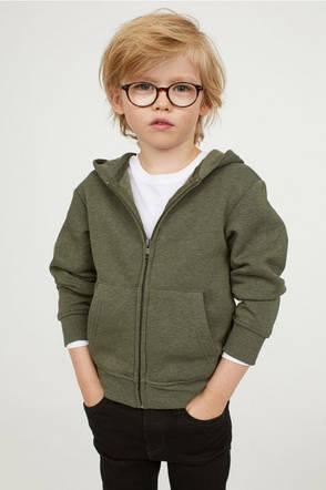 Трикотажная худи на микрофлисе H&M для мальчика, фото 2