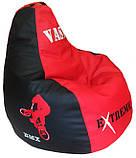 Безкаркасне дитяче крісло мішок, крісло-груша дитяче Фламінго, пуфи ігрові, фото 5