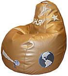 Безкаркасне дитяче крісло мішок, крісло-груша дитяче Фламінго, пуфи ігрові, фото 7