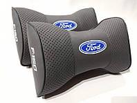 Подушка на подголовник Ford F150 светло-серая