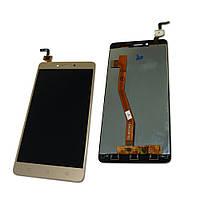 Дисплей (экран) для Lenovo K6 Note леново (K53a48) + тачскрин, цвет золотой