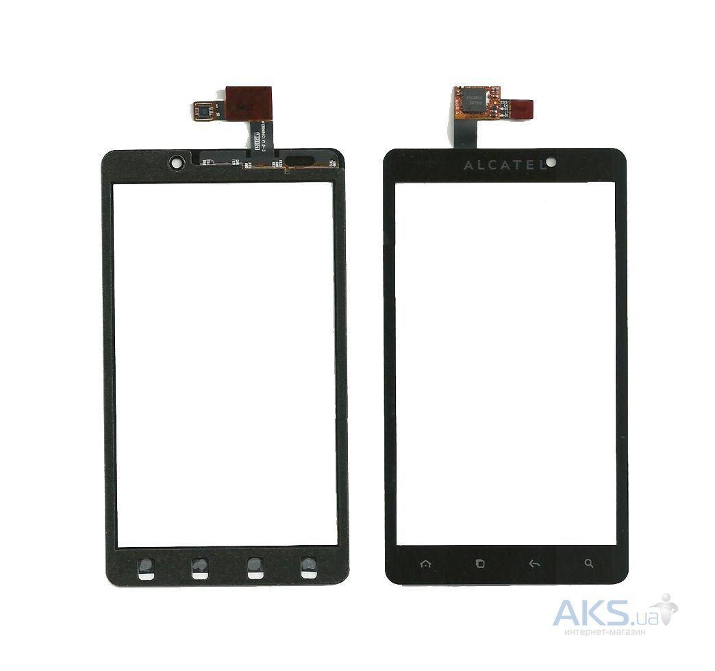 Сенсорный экран (тачскрин) Alcatel 3010 One Touch чёрный