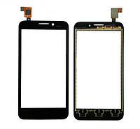 Сенсорный экран (тачскрин) Alcatel 7015 One Touch Pop чёрный