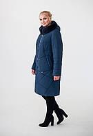 Зимнее пальто большого размера 52-62рр волна