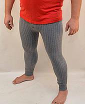 Підштаники чоловічі з начосом в смужку XL\2XL Темно сірий, фото 2