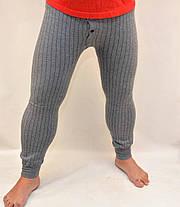 Підштаники чоловічі з начосом в смужку XL\2XL Темно сірий, фото 3