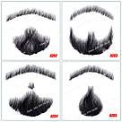 🧔 Борода и усы реалистичные — накладка на сетке чёрного цвета, фото 2