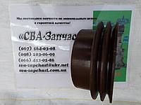Шкив помпы МТЗ ЗИЛ с кондиционером 2-х ручейный, фото 1
