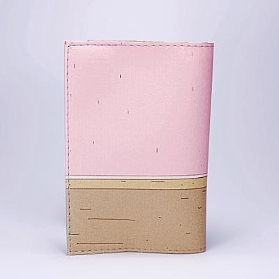 "Обложка на паспорт, ""Девушка с чемоданами"", экокожа, фото 2"