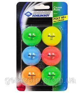 Мячи Donic Color polls 6шт