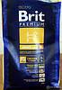BRIT Premium «Adult M»3 кг.Корм для взрослых собак средних пород . Brit M  Premium Adult  15kg  (д/соб 10-25кг)