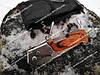 Нож складной выкидной с штопором на природу, вылазку и в дорогу. Оригинальные фото, фото 4