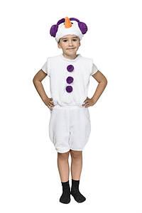 """Детский карнавальный меховой костюм """"Снеговик"""" унисекс (5 цветов)"""