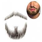 🧔 Борода и усы реалистичные — накладка на сетке чёрного цвета, фото 6