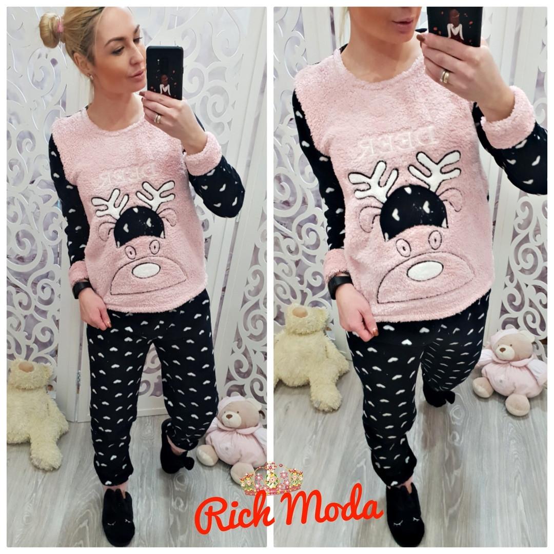 Тёплая женская махровая пижама Турция LA-6933-2 — купить недорого в ... 91f9dae7d1ac7