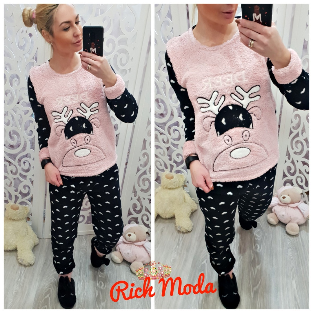 bdce966a39194 Тёплая женская махровая пижама Турция LA-6933-2 — купить недорого в ...
