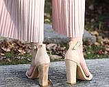Модные женские  босоножки на толстом каблуке, фото 4
