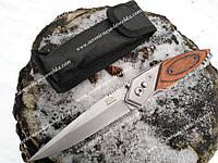 Нож выкидной 102 Дерево, походный надежный нож в дорогу