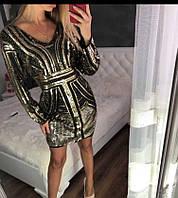 Платье золото