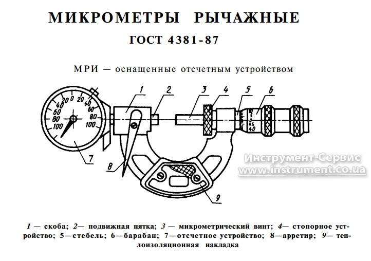 Микрометр рычажный МРИ-300 (250-300) 0,002 (Киров)