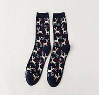 Новорічні шкарпетки з оленями