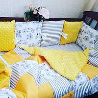 """Комплект в детскую кроватку """" солнечный"""", фото 1"""