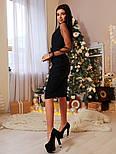 Женское стильное платье на запах с рукавами из органзы, фото 6