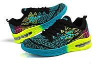 Синие кроссовки с градиентной подошвой, фото 1