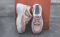 Кроссовки розовые для девушек на высокой подошве, фото 1
