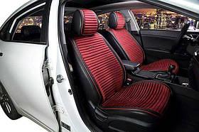 Передние накидки на сиденья Эко велюр красные (2 шт комп.) Car Fashion
