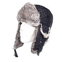 Зимняя шапка-ушанка, black, фото 1