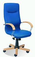 Креслo для руководителя «Nova wood chrome» SP