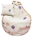Кресло-мешок, груша пуф Ромашки бескаркасные пуфики, фото 4