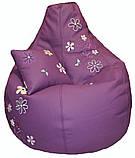 Кресло-мешок, груша пуф Ромашки бескаркасные пуфики, фото 5