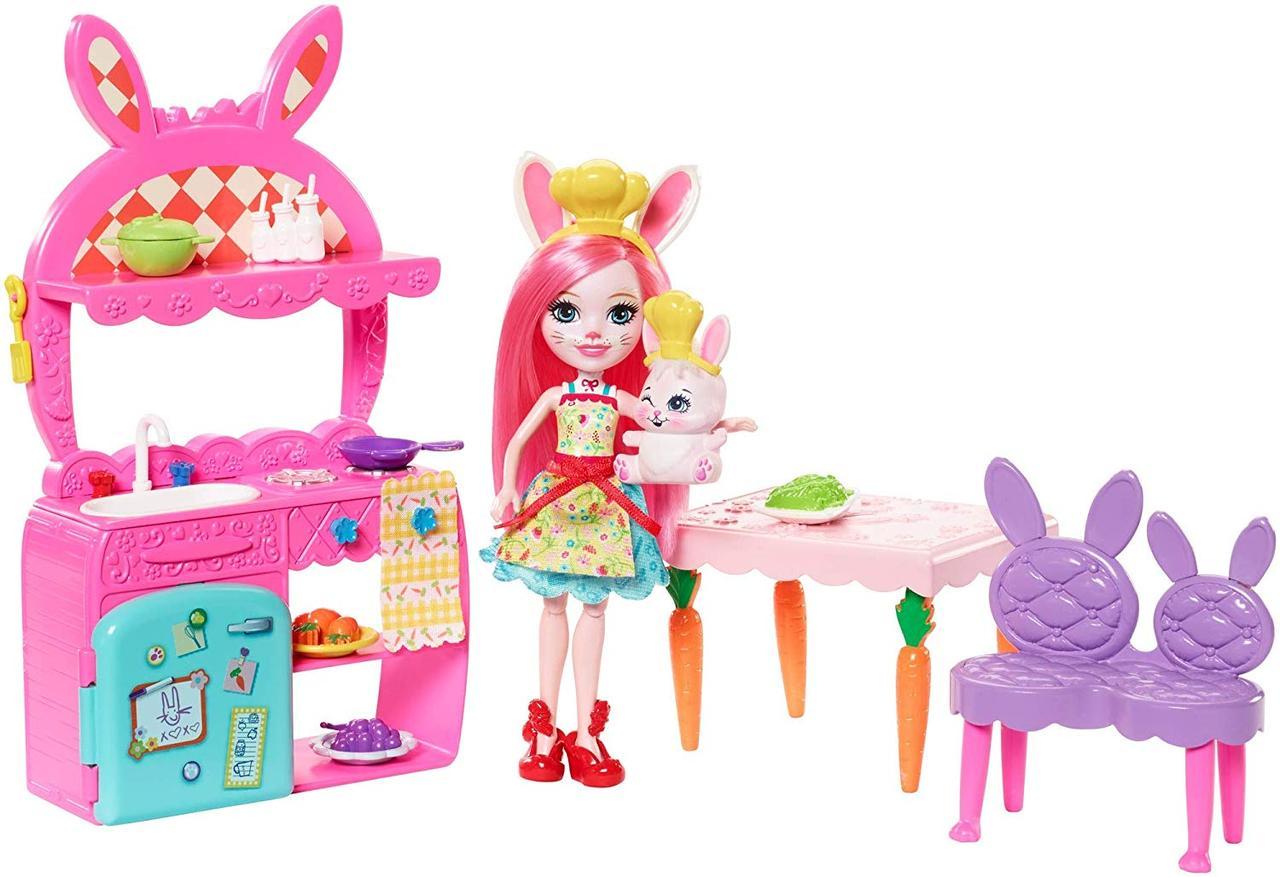 Энчантималс Enchantimals Игровой набор Кухня веселья кролика Бри Enchantimals Kitchen Fun Bree Bunny & Twist