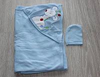 Детское мягкое полотенце для купания для мальчика