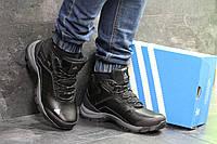 Зимние мужские кроссовки  Adidas Climaproof черные  с серым (Реплика ААА+)