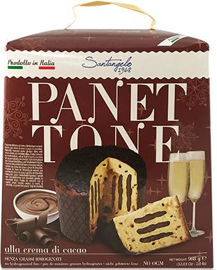 Панеттоне Panettone Santangelo alla Crema di Cacao с шоколадным кремом, 908 г.