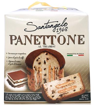 Панеттоне Panettone Santangelo al Tiramisu с кремом тирамису, 908 г.