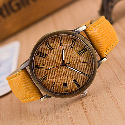 Стильные наручные часы Roman B07 Yellow