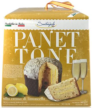 Панеттоне Panettone Santangelo alla Crema di Limoncello с лимонным кремом, 908 г.