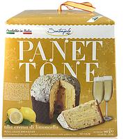 Панеттоне Panettone Santangelo alla Crema di Limoncello с лимонным кремом, 908 г., фото 1
