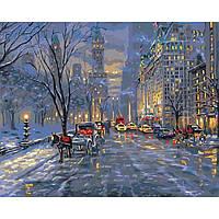 """Картина по номерам. Городской пейзаж """"Краски ночного города"""" KHO3537"""
