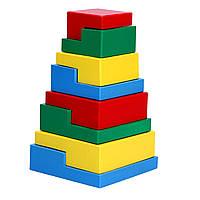 Пирамидка Головоломка 8 элементов Komarovtoys